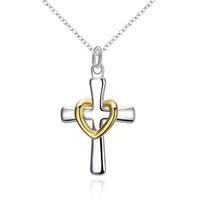 Alta qualidade 925 dicroic prata coração pingente de colar de jóias frete grátis 10 pcs