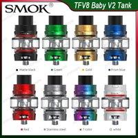 Authentische SMOK TFV8 Baby-V2-Behälter Atomizer 5ml mit Baby-V2 A1 A2 Spulen Faster Heizung Massives Vapor antibakterieller Anti-Leakage Entwurf