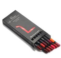 12 الألوان / مجموعة أنيقة اللون الأسود مثير ماتي عصا ماء دائم الشفاه قلم رصاص مجموعة الجمال ماكياج التجميل