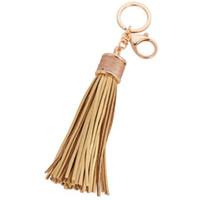 Moda casual PU de couro borlas mulheres chaveiro saco pingente de liga chave do carro anel titular retro jóias DHL livre