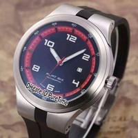 Новый P ' 6620 P6620 Limited Edition Pd дизайн спорт гоночный автомобиль погружение часы стальной корпус черный / красный циферблат плоский шесть автоматические мужские часы резиновые pd40