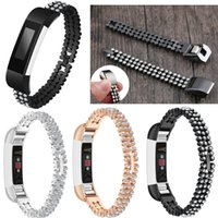 For Fitbit Alta HR Bands, Stainless Metal Bands with Bling Rh...