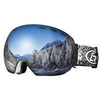 المهنية الرجال النساء نظارات تزلج نظارات مزدوجة الطبقات uv400 مكافحة الضباب قناع تزلج نظارات التزلج على الجليد الثلج الكبير نظارات