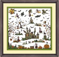 The witch castle decor paintings, Handmade Ricamo a punto croce Ricamo set contato stampa su tela DMC 14CT / 11CT
