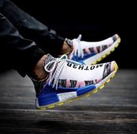 2019 Yeni İnsan Yarışı X HU İNSAN YARIŞ SPIECES Erkekler Spor Ayakkabı Pharell Williams Kadınlar En Kaliteli Eğitmen Ayakkabı Sneakers 36-45