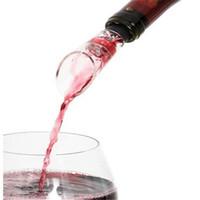 Rotwein Belüfter Kunststoff Weinausgießer Ausgusstülle mit Gummi Silikon Flaschenverschluss Decanter Bar Werkzeuge Trichter