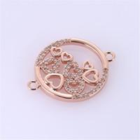 Círculo de Cristal Strass atacado Karma Infinito Conectores Achados DIY Pulseira Brincos Conectores Loop Round Jewelry Making accessori