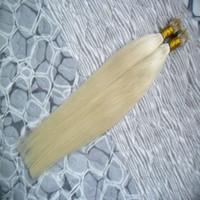 #613 отбеливатель блондинка прямые волосы микро бусины нет Реми нано кольцо ссылки наращивание человеческих волос 100 г необработанные бразильские девственные волосы