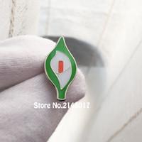 100 stücke Benutzerdefinierte Pin Abzeichen Irische Ostern Calla Lilly Harfen Emaille Anstecknadeln 1 '' Metall Handwerk Blume Brosche Geschenk
