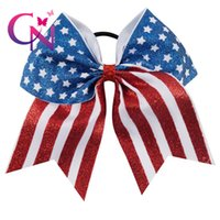 Cheerleading Girls Football Butterfly Hair Knot Circle 7&quo...