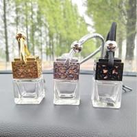 Venta al por mayor EE. UU. Reino Unido 6 ml Coche Scenter Ambientador de coche Decoración Aceite esencial Perfume Botella vacía Cuerda colgante Colgante Difusor Botellas