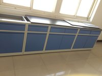 CE-geprüft Alle Stahl-Labormöbel 4,8 m Seitenlabortisch Laborwandbank