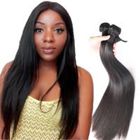 Silky cabelo humano 8a Mink extensões do cabelo tramas não processado brasileiro linha reta cabelo Weave Pacotes 8-30 Inhces Natural Color Para Mulheres