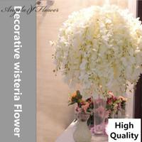 69 см искусственный Глициния шелк декоративный цветок свадебный букет для украшения дома партии отель студия фото реквизит 11 шт. / лот