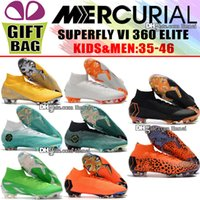 New Boys Football Boots Mercurial Superfly VI 360 Elite FG A...