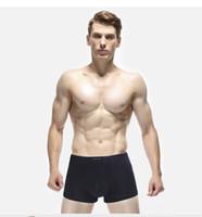 Mens Casual Boxer Underpant Solide Couleur Coton Lettre Imprimer respirante Sous-vêtements 4 Pieces A Lot Homme Mode Underpants L-3XL Couleur Multiple