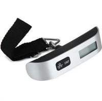 휴대용 LCD 미니 수하물 전자 저울 온도계 50kg 용량 매달려 디지털 무게 장치 소매 포장 SN1070