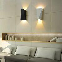 DHL 무료 배송 10W 알루미늄 벽 빛 방수 현대 보루 계단 전등 거실 침실을 LED