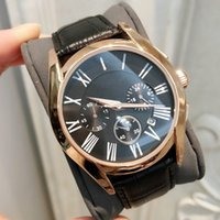 Luxury Fashion man Leather Watches Stainless steel Classic Q...