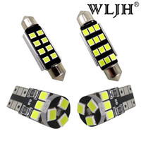 WLJH 8x White Canbus Error free Map Reading Trunk Light For ...