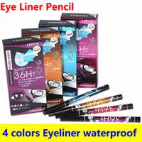 Eye-liner Crayon Eyeliner 36H Pen 4 couleurs Eyeliner Pen facile à porter longue durée imperméable Eye-liner Crayon de haute qualité DHL Livraison gratuite