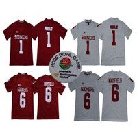 NCAA OKLAHOMA SoOMS # 1 KYLER MURRAY # 6 BAKER MAYFIELD 2018 Nueva marca Rose Bowl Patch Limited Stitched College Football Jerseys