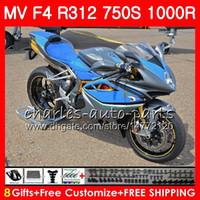 Bodywork For MV Agusta F4 S blue grey 1000R 312 1078 1+1 750 1000CC 05 06 102HM53 750 R312 750S 1000 R MA MV F4 2005 2006 05 06 Fairing