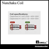 Authentic UWELL Nunchaku Replacement Coils 0. 25ohm 0. 4ohm Cl...
