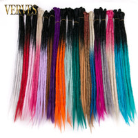 VERVES 5 Strands 24 inch Handmade Dreadlocks Hair Extensions...