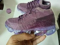 Kids children vapormax Boy girl baby Shoes Hook & Loop rainb...