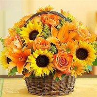 Diamond embroidery sunflower basket diy diamond painting cro...