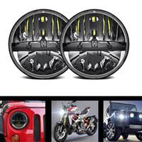 2 stücke 36 watt 7 Led auto fahren frontscheinwerfer Mit Hallo Abblendlicht lampe Led scheinwerfer lampe Für Jeep Wrangler