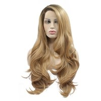 Hot Selling Sexy Ombre Brown Blonde Natural Wavy Side Part H...