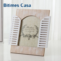 Bitimes Vintage Wood MDF Photo Frame With Window Home Decora...