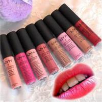 En Yeni Rujlar NYX Lipgloss Kalıcı NYX Mat Lipgloss Uzun 12 renkli su geçirmez Lip Gloss Marka Parlak Makyaj