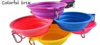 Pet Bowl Portable Silicone Feeders Foldable Collapsible Bowl...