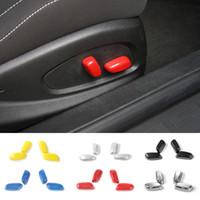 Interruptor de ajuste de asiento Interruptor de la cubierta de la manija decorativa para Chevrolet CAMARO 2017 + STYLING ABS Accesorios interiores