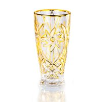 Golden Flower Wine Glass Cup Whiskey GLASSES Drinking Cockta...