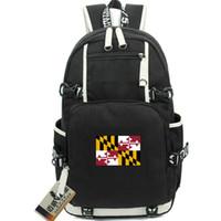ميريلاند ظهره ناسا دولة العلم daypack أمريكا قماش المدرسية الولايات المتحدة الأمريكية المحمول حقيبة الظهر الرياضة حقيبة مدرسية في الهواء الطلق حزمة اليوم