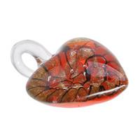 Новый Красный Уникальный Lampwork Муранского Искусства Стекла Сердца Кулон Ожерелье Для Женщин Подарок Ручной Работы P276