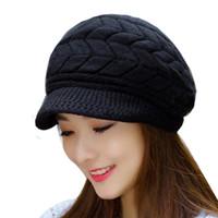 041b9fa721cf9 Wholesale Winter Beanies Knit Women Hat Winter Hats For Women Ladies Beanie  Girls Skullies Caps Bonnet Femme Snapback Wool Warm Hat 2018