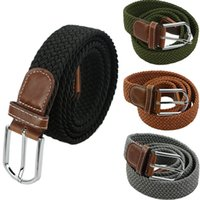 Heißer Mann Militärgürtel Top Qualität 3,5 cm breit gewebt Stretch geflochtene elastische Lederschnalle Luxus Leinwandgürtel