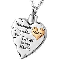 مخصص كل أنواع نص قلادة قلادة urn الجنازة قلادة قلادة الأزياء والمجوهرات - إلى الأبد في قلبي