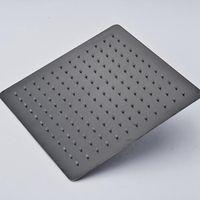 """8 """"10"""" 12 """"Parete / soffitto soffione quadrato in titanio Soffione doccia a pioggia Spray bronzo lucidato ad olio"""