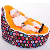 2018 New Multicolors Baby Beanbag Pouf Portable Baby Chair F...
