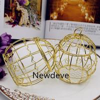 Boîte de mariage boîte européenne créative or matéel boîte romantique en fer forgé oiseaux mariage boîte de bonbons boîte boîte en gros boîte de mariage
