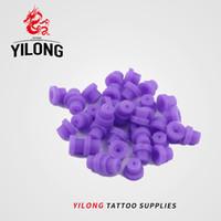 """YILONG 100 шт. / пакет новый прочный """" T """" Тип втулки татуировки Neddle Pad для татуировки пистолет иглы чернила наконечник сцепление татуировки поставки"""