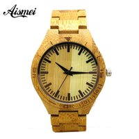 2018 Fashion & Casual Full Wood Watch for Men Analog simple ...