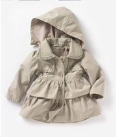 Abbigliamento per bambini 2018 Nuovo bambino ragazze del bambino bavero giacca a vento cintura cappotto giacca sportiva per bambini inverno o autunno