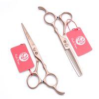 """5,5"""" 16cm Japan 440C lila Drache Marke Rose Gold Friseurscheren Friseurscheren Schneideschere Effilierschere Haarschere Z9030"""